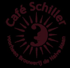 Schiller's halve Maan Logo bruin